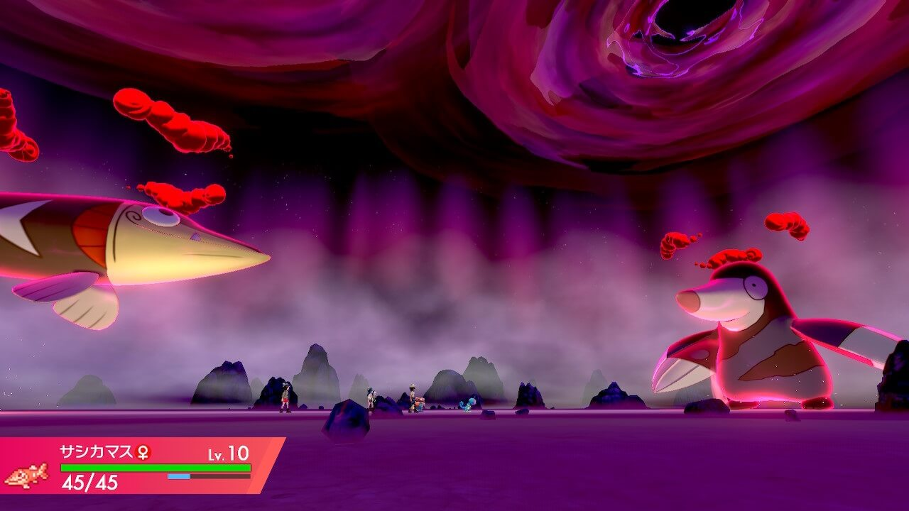 ポケモン剣盾のダイマックスバトル戦闘画面