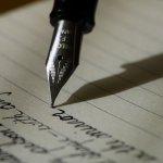 置き手紙を書く